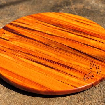 Tábua para pizza em madeira, 35cm