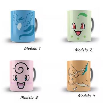 Caneca Pokémon Diversos Modelos Personagem Desenho