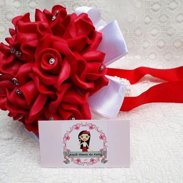 Buquê para pré wedding vermelho