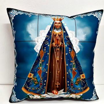 Almofada Nossa Senhora de Aparecida tamanho 40x40cm