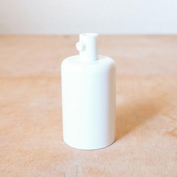 Soquete Metálico E27 Branco: p/ todo tipo de lâmpada padrão