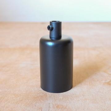 Soquete Metálico E27 Preto: p/ todo tipo de lâmpada padrão