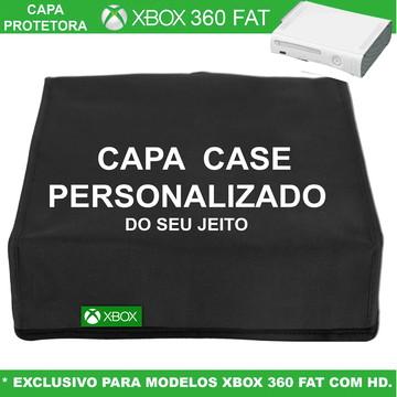 Capa Xbox 360 Fat Em Nylon Personalizada