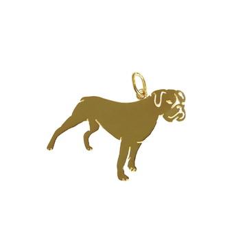 Pingente Boxer em Ouro 18k