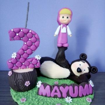 Masha e o Urso topo de bolo Biscuit