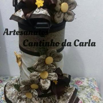 capa de Garrafa Térmica Flores