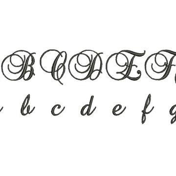 Matrizes de bordado - Alfabeto Brockscript
