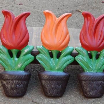 Tulipa flor parede trio
