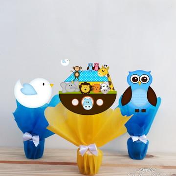 Centro de mesa Arca de Noé Azul/Amarelo