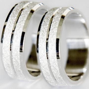 Aliança de Namoro Prata 950 Diamantada