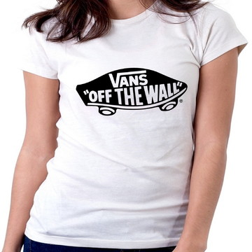 b343e884212de Blusa feminina baby look camiseta Vans off the wall Skate