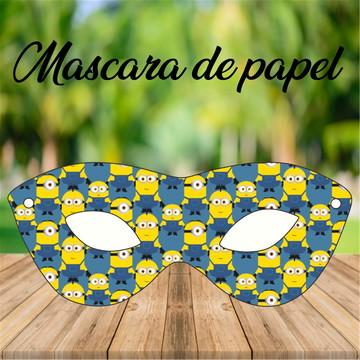 Mascara de papel Minions