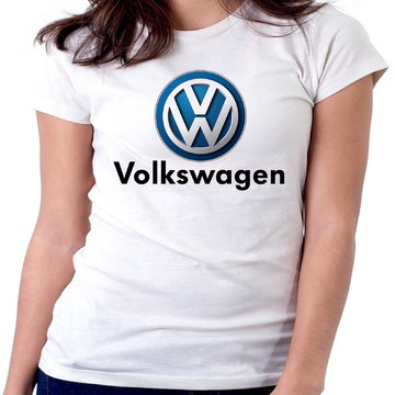 Blusa feminina baby look camiseta VOLKSWAGEN Carro Marca