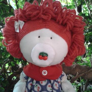 Boneca de Pano bebê Cerejinha