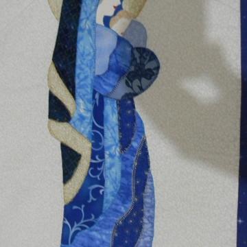 Painel Nossa Senhora em Tecido Patchwork
