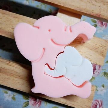 Mamãe e bebê elefantinho I, lembrancinha