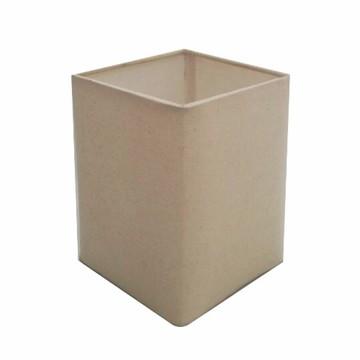 Cupula Tecido Quadrada Abajur CP-4007 25/16X16 Algodao Cru