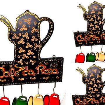 cantinho do café Porta Xícaras colonial- Mimos para Cozinha