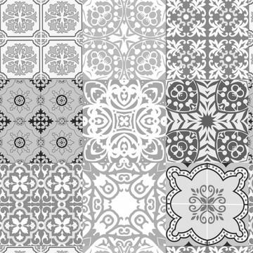 Papel de Parede Adesivo Azulejo Para Cozinha Preto e Branco