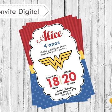 Convite digital Mulher Maravilha