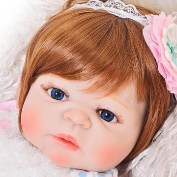 Pronta Entrega Boneca Bebê Reborn Silicone Enxoval Completo