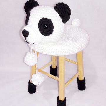 Capa para banquinho - urso Panda