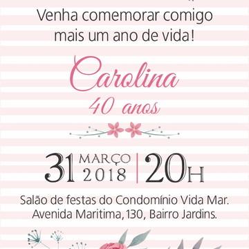 arte convite digital aniversario feminino