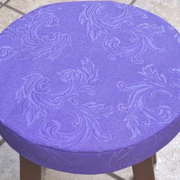Capa Púrpura para Banqueta/Banco com Espuma