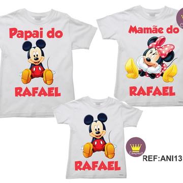 Kit 3 Camisetas Aniversario Mickey e Minnie 03