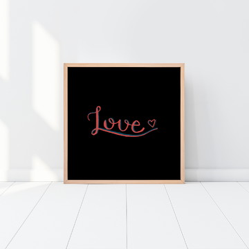 Love - Lettering para download