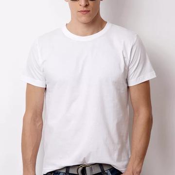 f33f8b761 Camiseta 100% Algodão Sem Estampa Fio 30.1 Lisa Branca