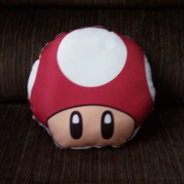 Mini almofada cogumelo Super Mario