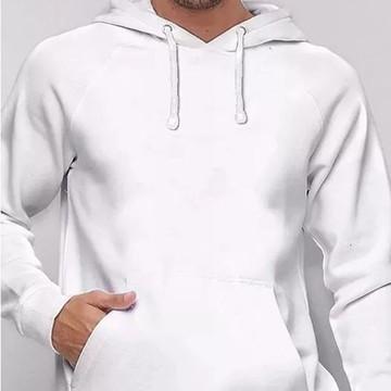 a905900df Blusa Moletom Masculino Capuz Bolso Jaqueta Casaco Branco