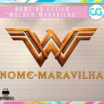 Nome estilo: Mulher-Maravilha (Wonder-Woman)