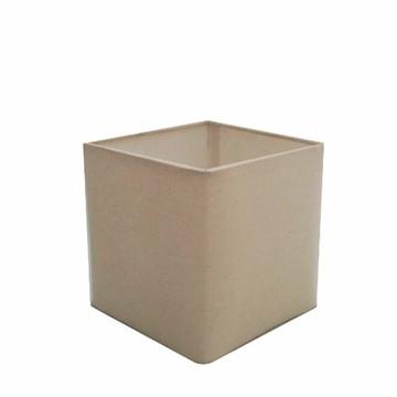 Cupula Tecido Quadrada Abajur Luminaria CP-4224 Algodao Cru
