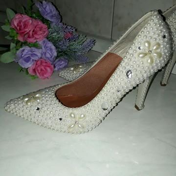 dd54c7565 Sapato Dourado Festa Noivas