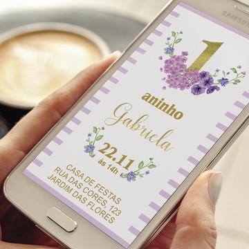 Convite digital primeiro aninho