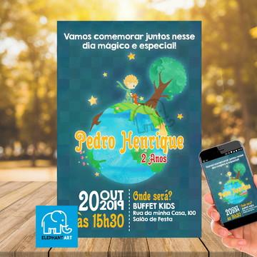 Convite Aniversário O Pequeno Príncipe - Arte Digital