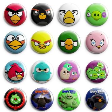 "Kit Bottons ""Angry Birds"""