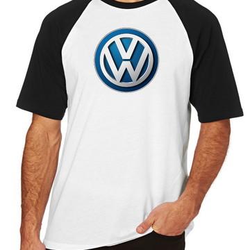f5c8b1035195f Camiseta Raglan Camisa Blusa VOLKSWAGEN Carro Golf Jetta
