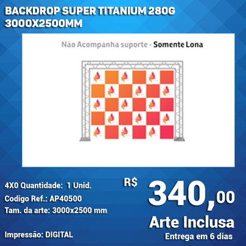 Backdrop Super Titanium 280g 3000x2500mm