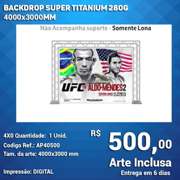 Backdrop Super Titanium 280g 3000x3000mm