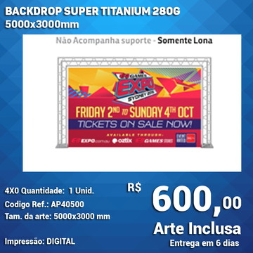 Backdrop Super Titanium 280g 5000x3000mm