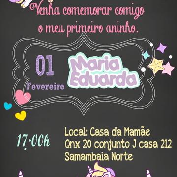 Convite Digital Unicórnio 1