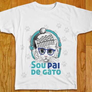 Camiseta Sou Pai de Gato