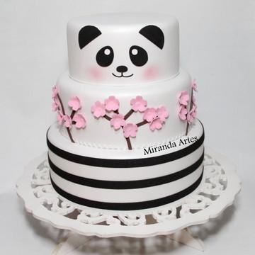 Bolo fake de eva Panda