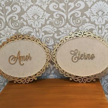 Placa Cadeiras dos Noivos