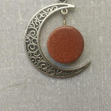 Colar Lua com Pedra do Sol
