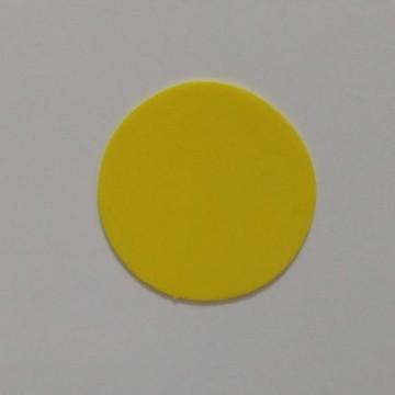 Aplique bolinhas círculo de Eva liso em 5 cm