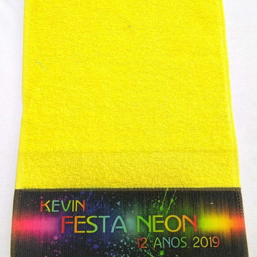 Toalhinhas Personalizadas Festa Neon